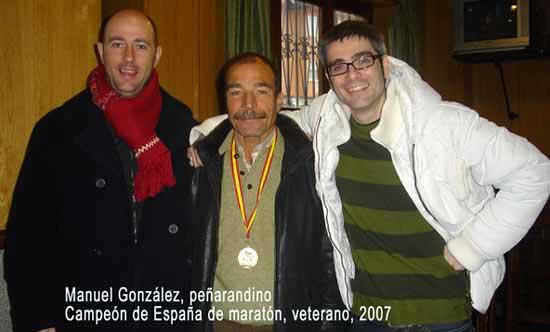 Manolo, campeón de España 2007, maratón veterano